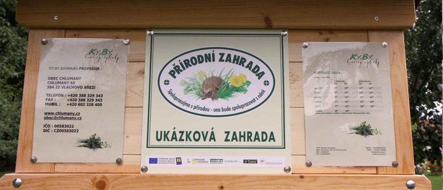 Certifikát Ukázková přírodní zahrada
